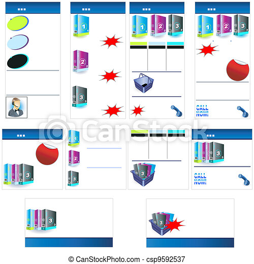 New product stationary template - csp9592537
