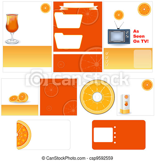 Orange stationary template - csp9592559
