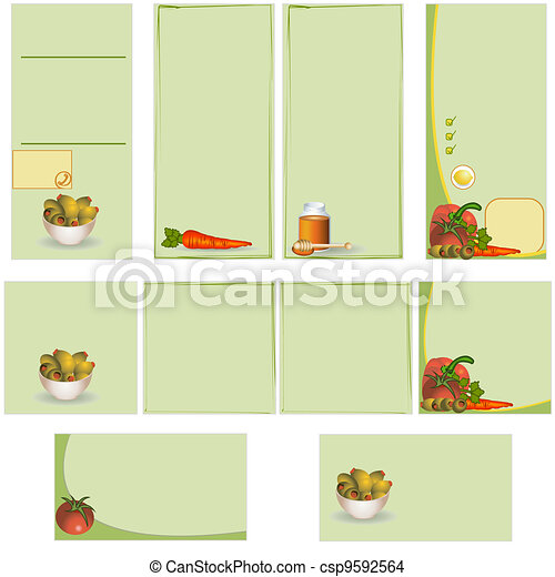 Food stationary template - csp9592564