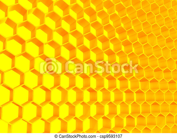 structure of golden color consisting of set honeycomb - csp9593107