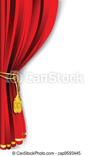 Curtain Drape - csp9593445