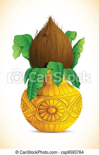 Mangal Kalash with Coconut - csp9593764