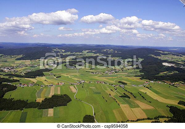 美しい, 写真, 航空写真, 風景 - csp9594058