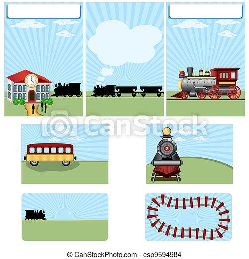 Steam train stationary - csp9594984
