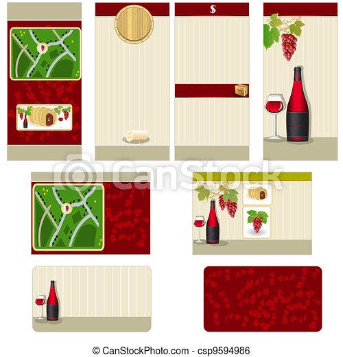Red wine stationary - csp9594986