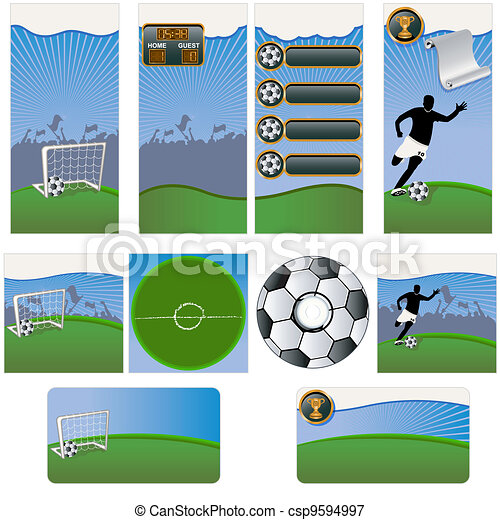 Soccer stationary template - csp9594997