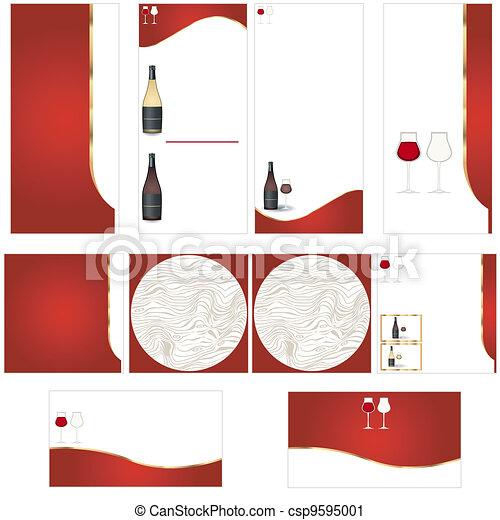 Wine stationary template - csp9595001