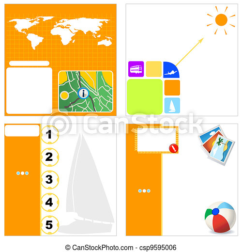 Travel agency stationary 4 - csp9595006