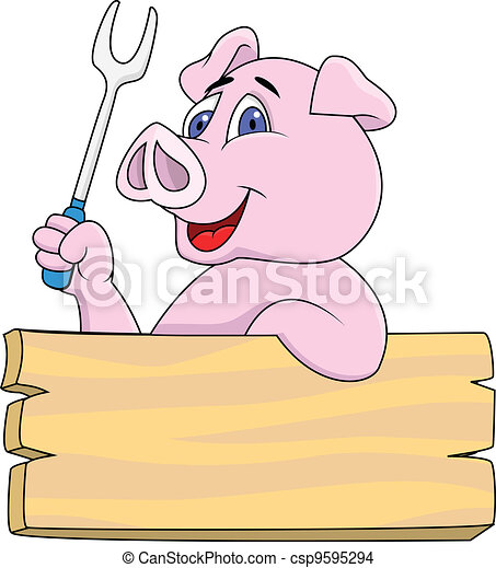 Pig chef  - csp9595294