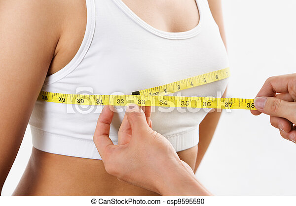 Measuring bra cup size - csp9595590