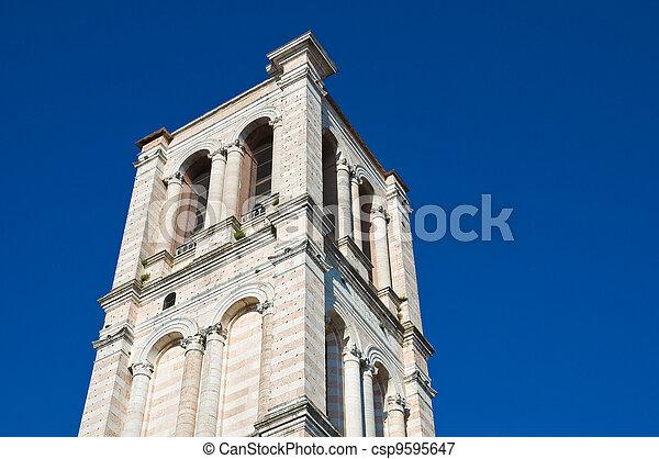Belltower St. George's Basilica. Ferrara. Emilia-Romagna. Italy. - csp9595647