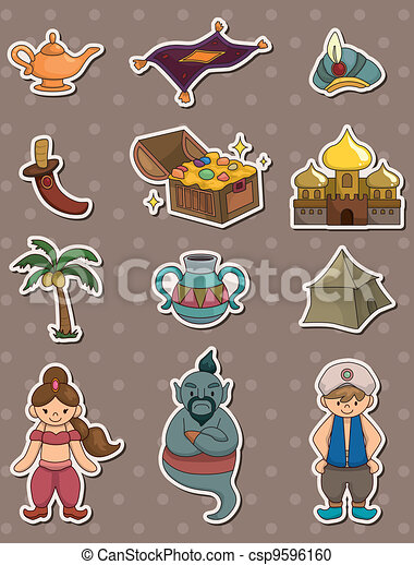 Clipart of Aladdin lamp - 3d people icon with Aladdin lamp - This ...