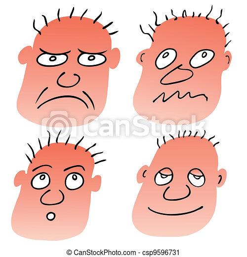 vector different facial expressions - csp9596731