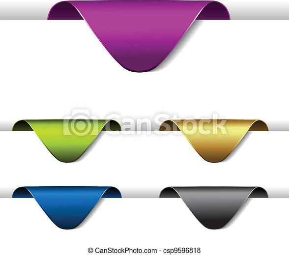 Vector arrow paper labels - stickers on the edge of the web page - csp9596818
