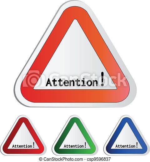 Vector attention symbol - secure warning - csp9596837