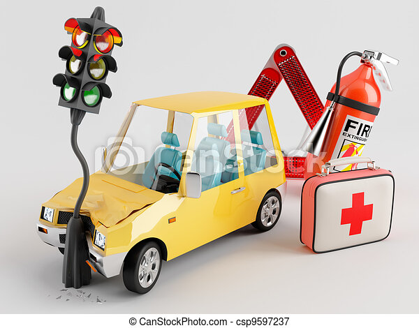 Car and Emergency Kit - csp9597237