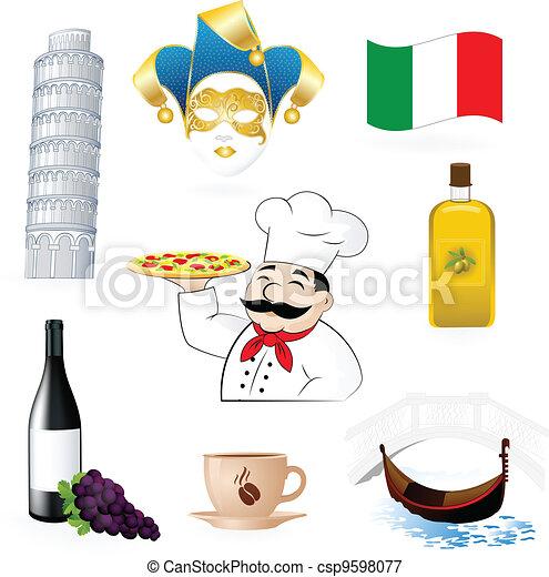 The Italian Icons  - csp9598077
