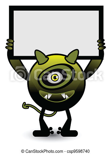 Yellow monster banner - csp9598740