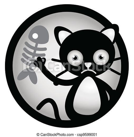 Cat Sad Circle Banner - csp9599001
