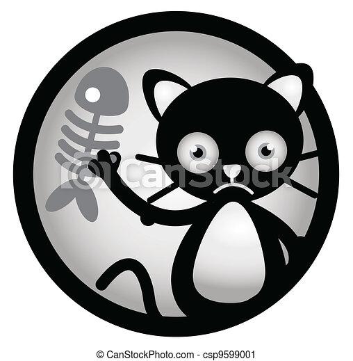 Cat Sad Circle Banner - csp9599001
