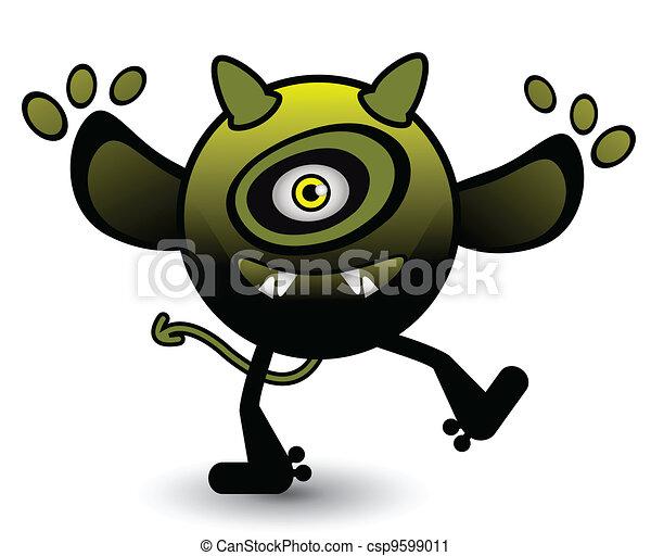 Monster/Virus - csp9599011