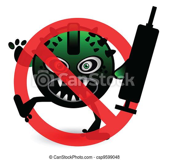 Stop Virus - csp9599048