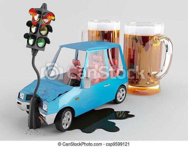 clipart de voitures alcool voiture accident caus par alcool csp9599121 recherchez des. Black Bedroom Furniture Sets. Home Design Ideas