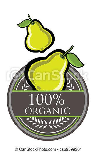 Guava Organic label - csp9599361