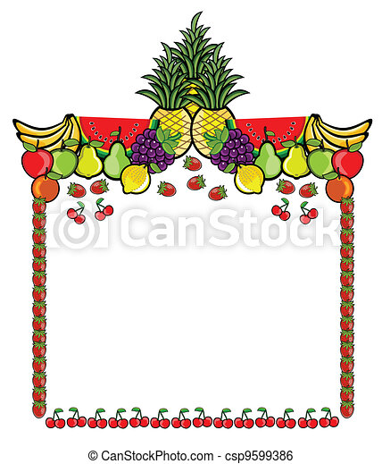 Fruit Advertising Label - csp9599386