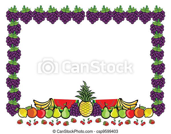 Fruit Advertising Label - csp9599403