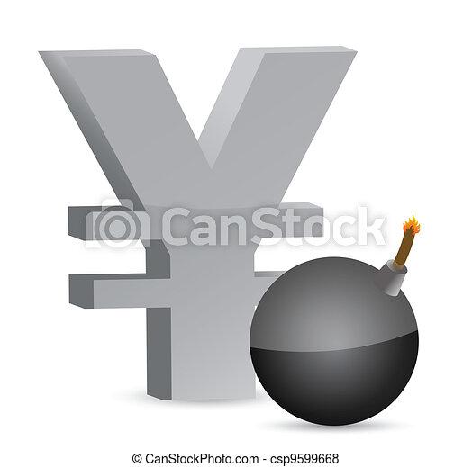 explosive yen profits symbol - csp9599668