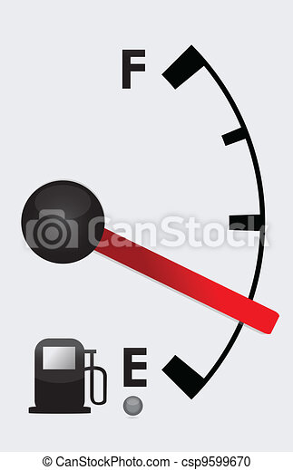 Detailed Gas tank almost empty  - csp9599670