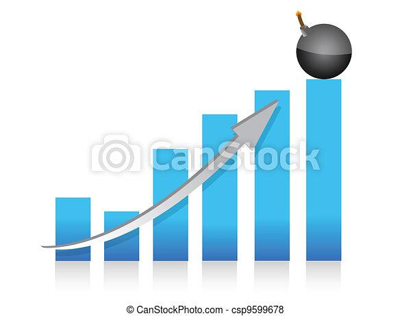 explosive profits graph  - csp9599678