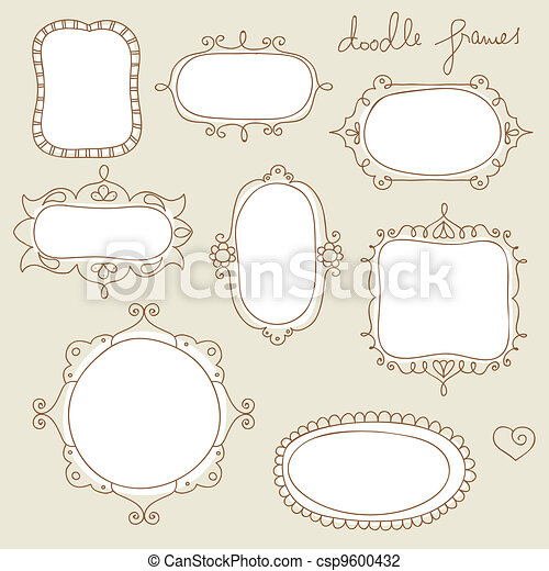 Doodle frame collection - csp9600432