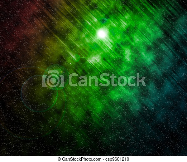 Stars Green Universe Background - csp9601210