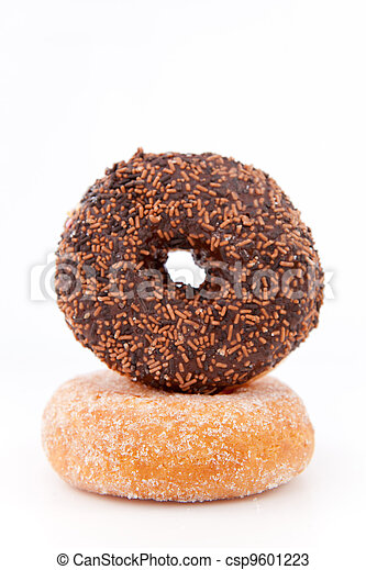 Doughnuts with icing sugar  - csp9601223