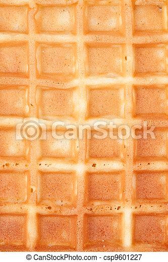 Close up of a waffle - csp9601227