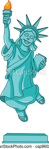 Statue of liberty - csp9602107