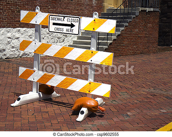 Closed Sidewalk Sign - csp9602555
