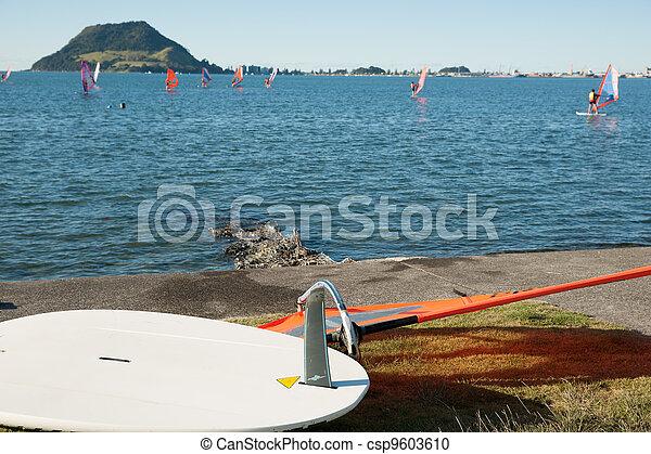 Windsurfing, Tauranga harbour. - csp9603610