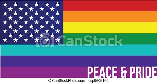 Flag of Rainbow united states - csp9605100