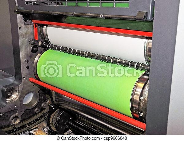 Printing - Offset press, detail - csp9606040