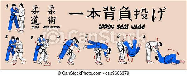 Judo projection technique - csp9606379
