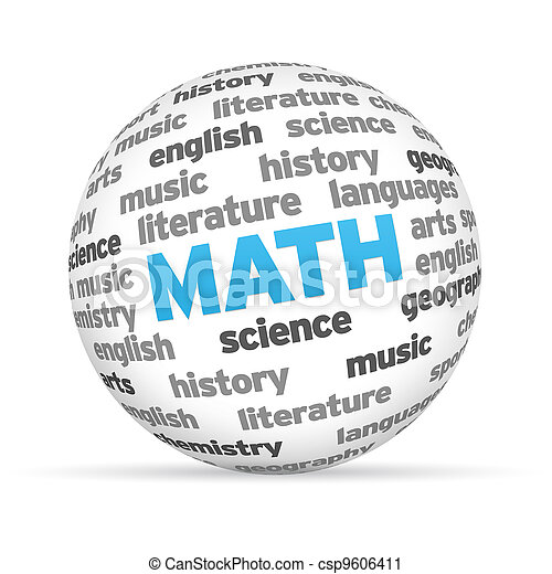 Math Word SPhere - csp9606411