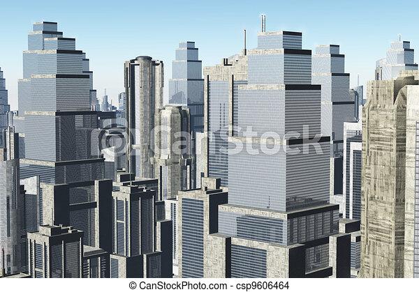 Metropolis 3D render 01 - csp9606464