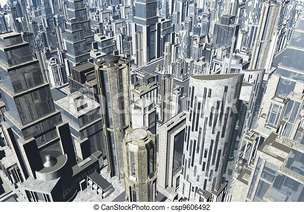 Metropolis 3D render 03 - csp9606492