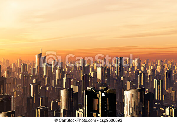 3D Future Metropolis - csp9606693