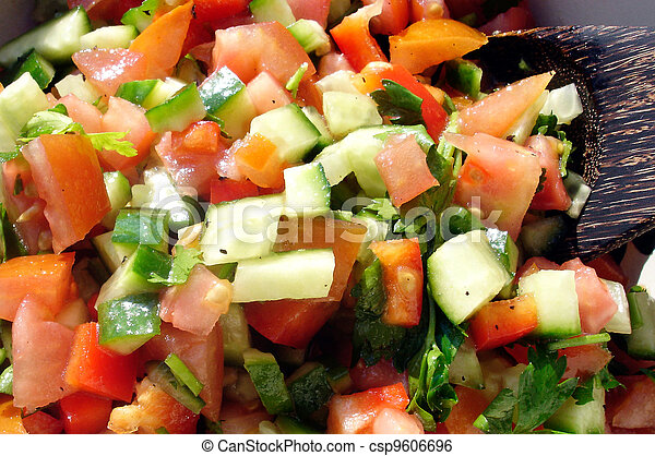 Food and Cuisine - Salads - csp9606696
