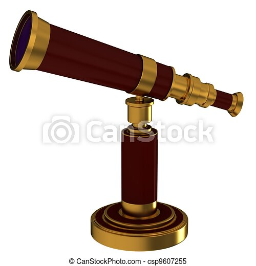 Antique brass telescope - csp9607255