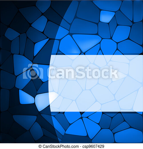 Stained glass design template. EPS 8 - csp9607429